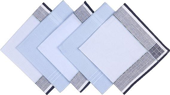 Blank/&Black 100/% Pure Cotton Mens Handkerchief 3 Pack Gift Set
