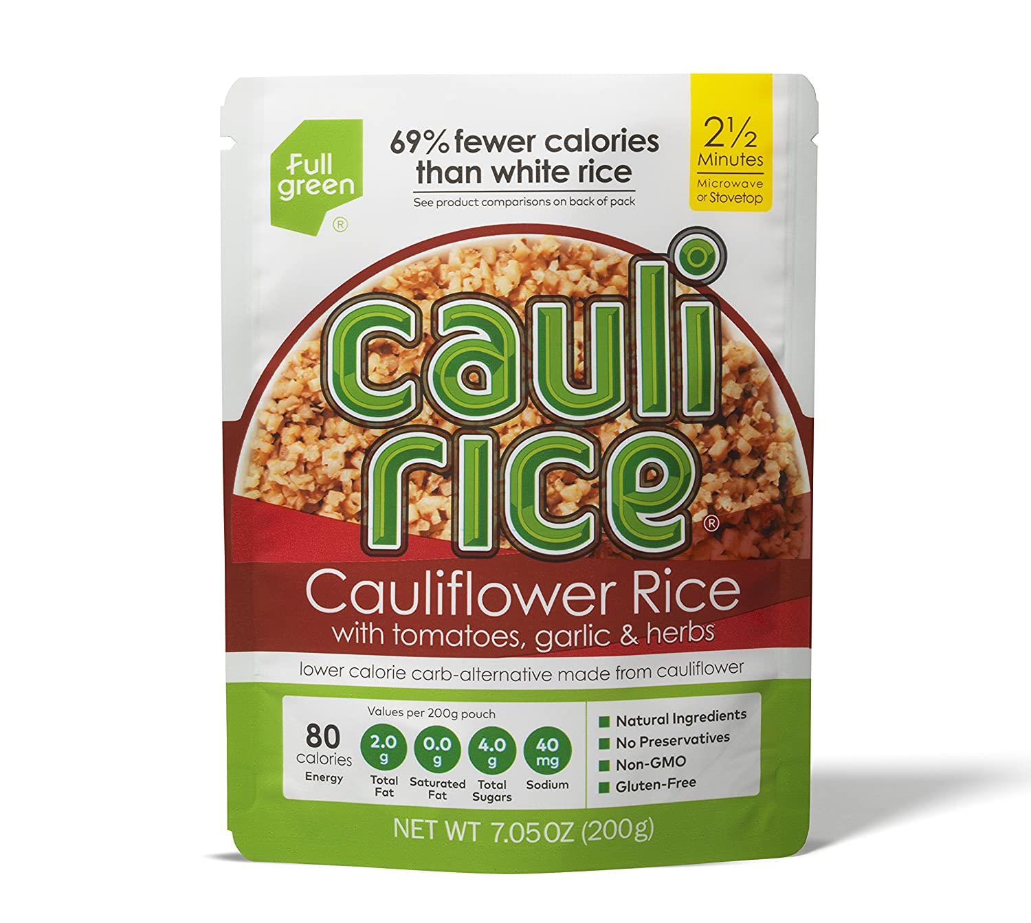 Fullgreen Cauli Rice Cauliflower Rice with Tomatoes, Garlic and Herbs (7.05 oz)
