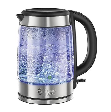 Russell Hobbs 21600-70 Hervidor jarra transparente 1.7 litros, Acero Inoxidable, Negro,