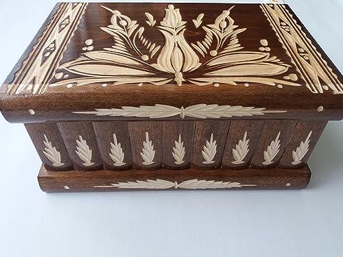 Caja puzzle grande prima marrón, caja enorme del rompecabezas de la caja secreta, caja mágica de