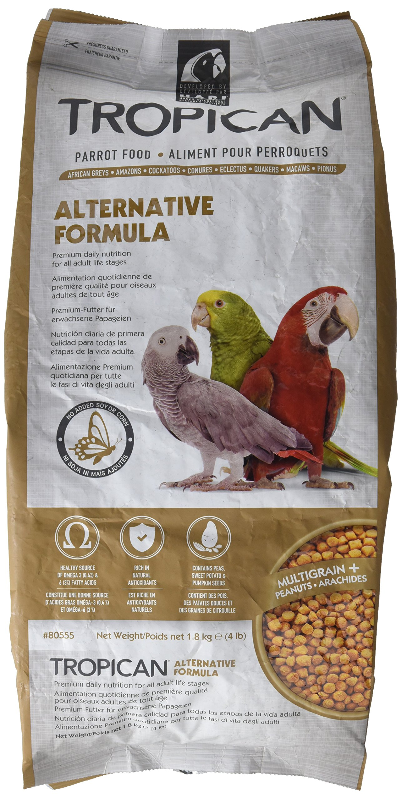 Tropican Alternative Formula Granules Parrot Food 4lb by Hari
