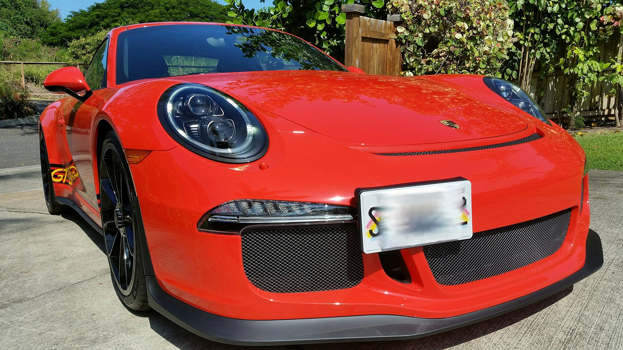 GMG Motorsports Porsche NO Holes License Plate Bracket 911 (991), Cayman (981) & Boxster (981/718) (Does NOT fit Older Models and Vehicles with sensors) by GMG Motorsports (Image #1)