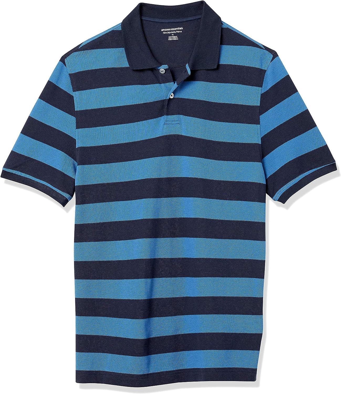 Amazon.com: Amazon Essentials Men's Slim-fit Cotton Pique Polo ...