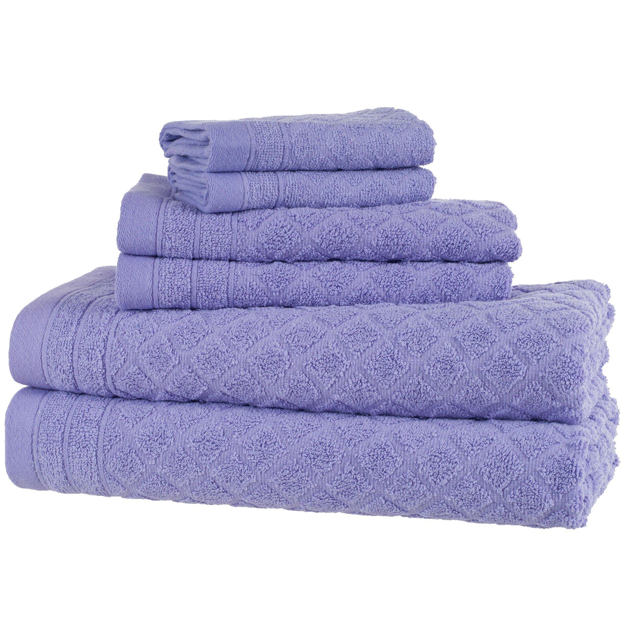 Everyday Home 6-Piece Bath Towel Set, Purple