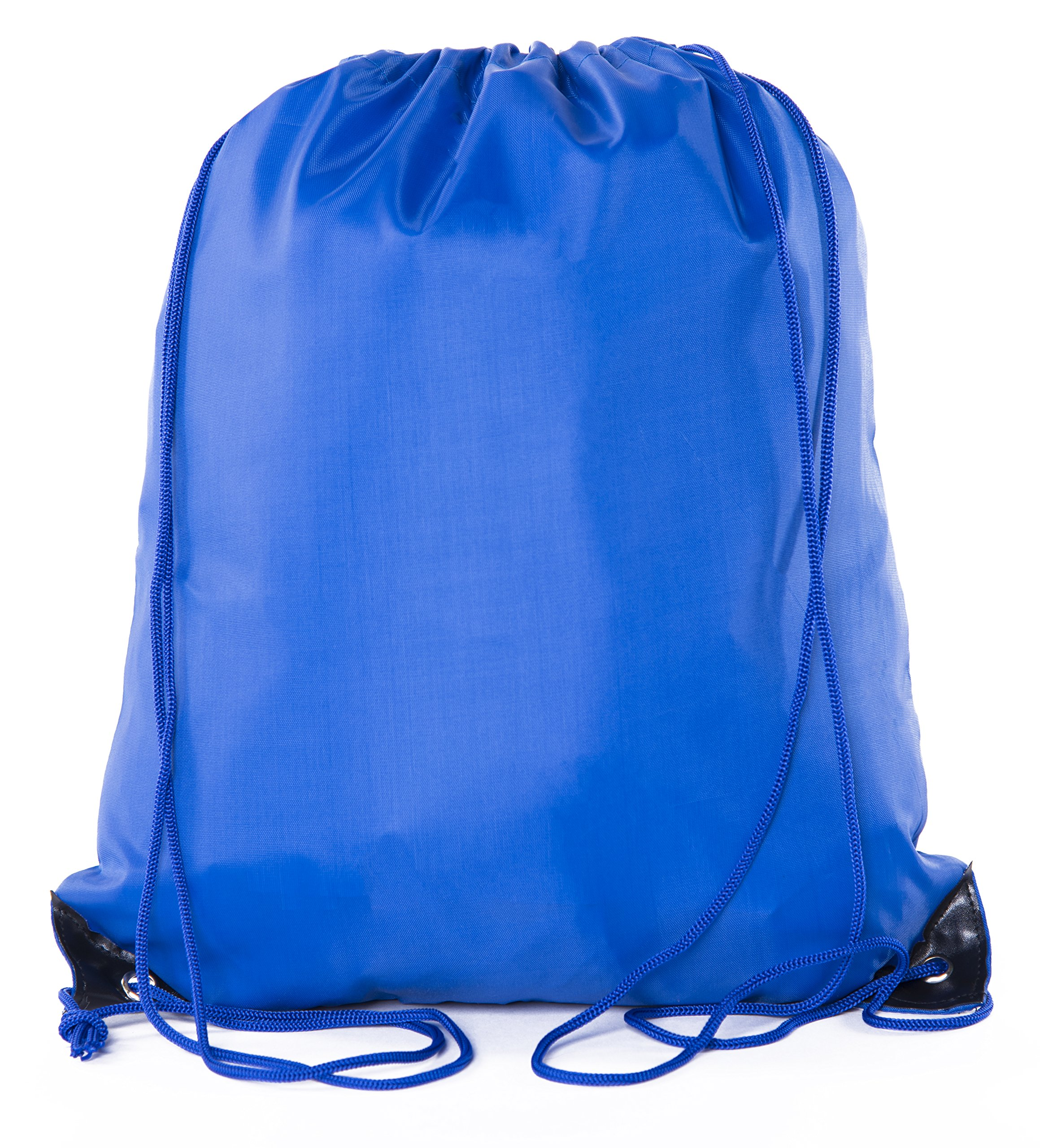Mato & Hash Basic Drawstring Tote Cinch Sack Promotional Backpack Bag - 100PK Royal CA2500 - 2