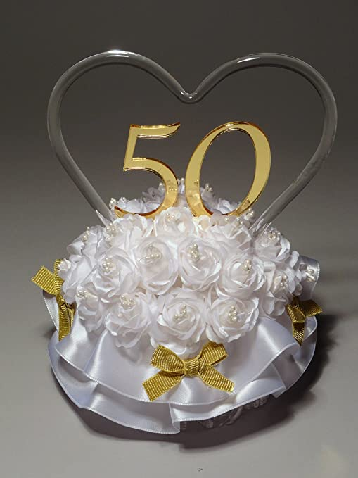 50th Wedding Anniversary Cakes.Remembering The Years 50th Wedding Anniversary Cake Topper