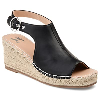 5b5e7e5e56b86 Journee Collection Crew Womens Wedge Sandals