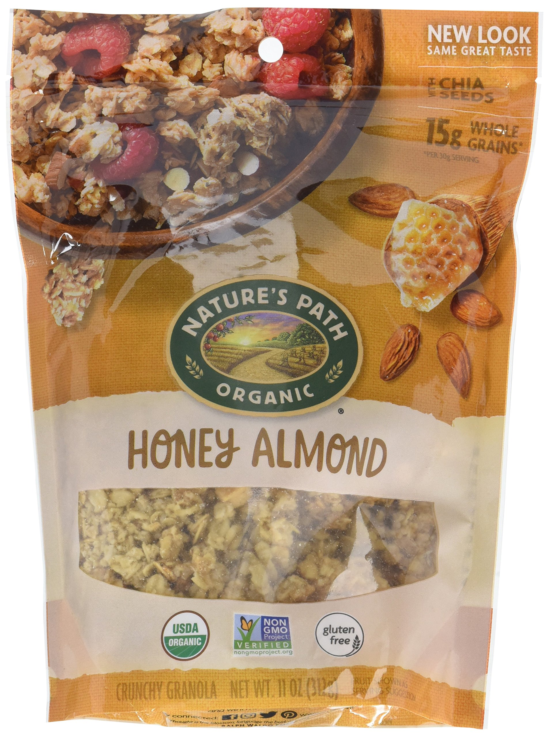 Nature's Path Organic Gluten-Free Granola Cereal, Honey Almond, 11 Ounce