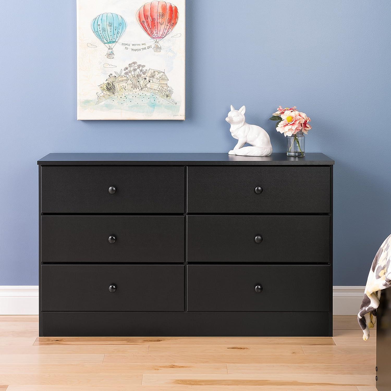 Prepac Astrid 6 Drawer Dresser  Black. Dressers   Amazon com