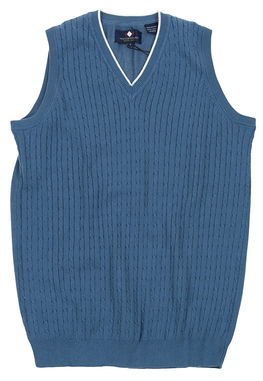Argyle Culture Mens Cable Knit Vest Color Options