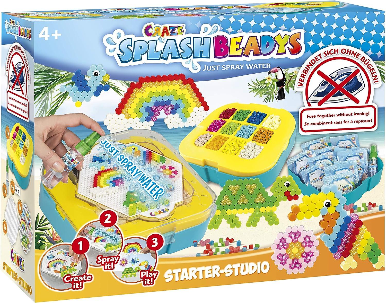 CRAZE- Cuentas de fusibles Fuse Beads Splash BEADYS XL Juego de Recarga de Perlas artesanales de Inicio-Estudio Parrot 12161, Multicolor: Amazon.es: Juguetes y juegos