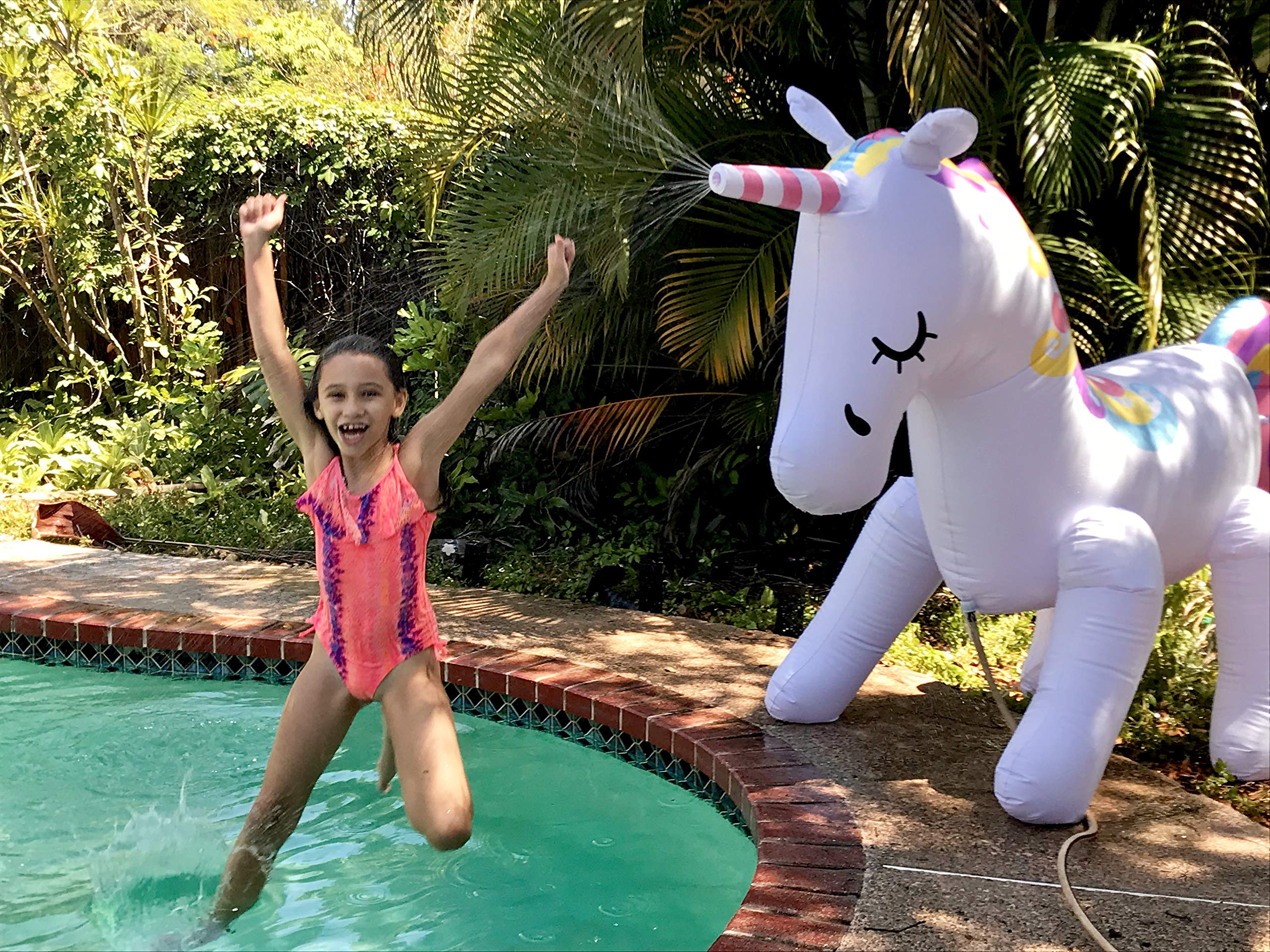 THE ORIGINAL UNICORN SPRINKLER Toy - Giant Inflatable Unicorn Sprinkler for Kids Adults - Great Outdoor Birthday Party… 4