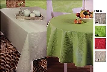 Nappe de jardin en toile cirée résistante aux intempéries – ronde,  rectangulaire ou ovale – finition de haute qualité – idéale comme table de  jardin ...