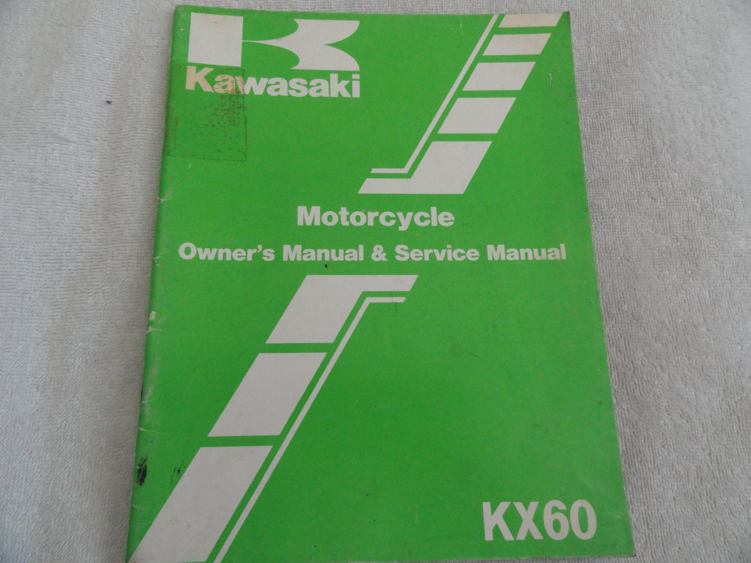 1983 1984 Kawasaki KX60 KX 60 Service Repair Manual: Kawasaki: Amazon.com:  Books