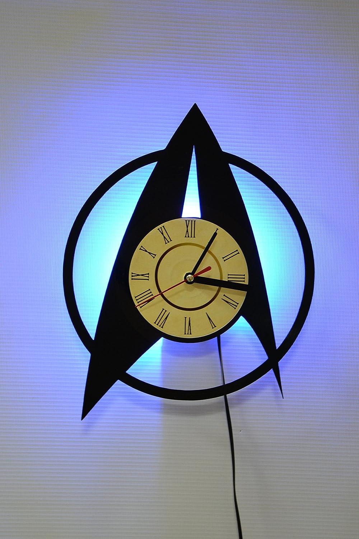 スタートレック夜ライト、壁ライト、壁ランプ、スタートレック壁時計、クールRest部屋壁アート装飾 ブルー  ブルー B07CBJPNXG
