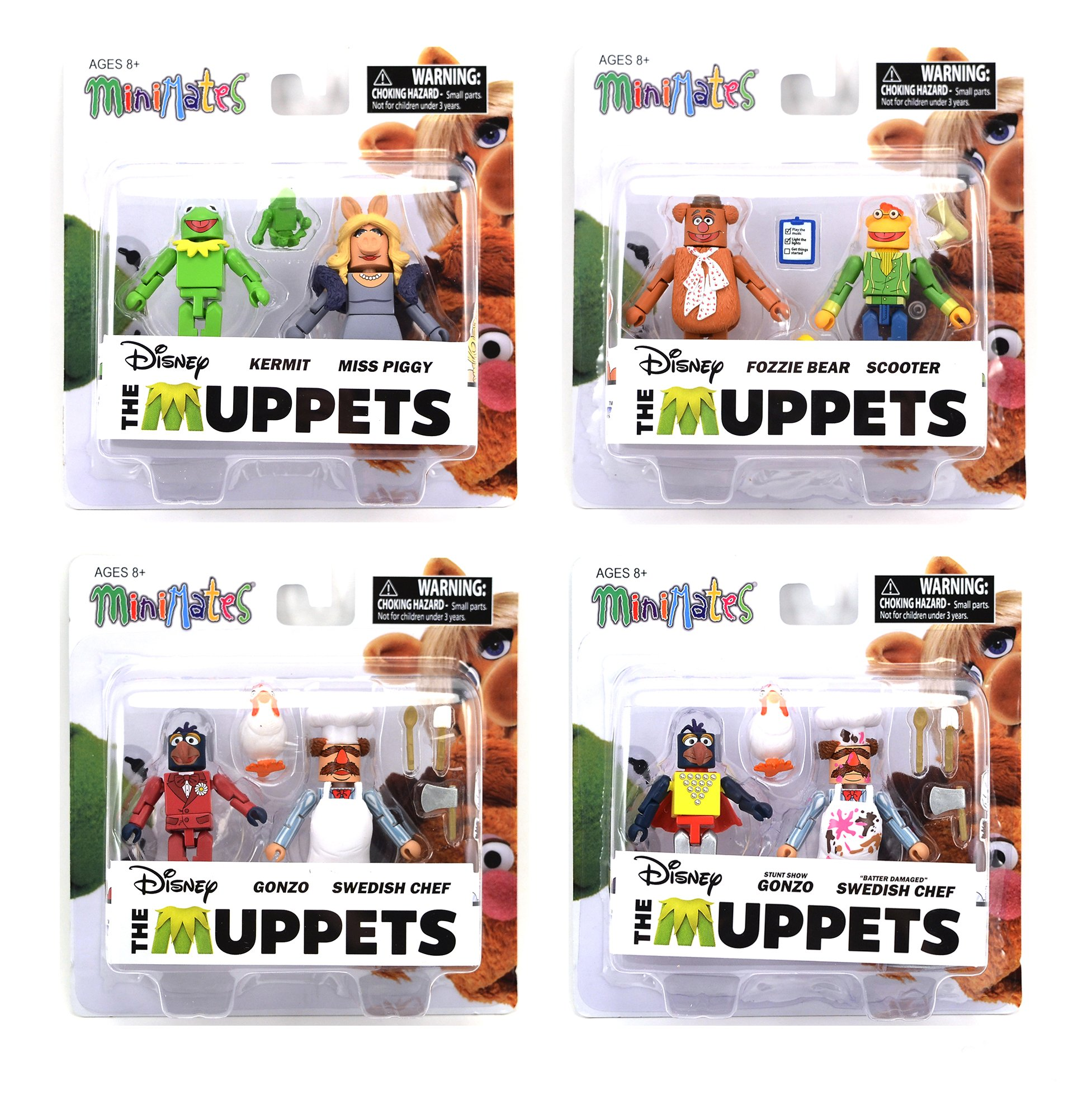 The Muppets Minimates Series 1 Set of 4 2-Packs by Minimates
