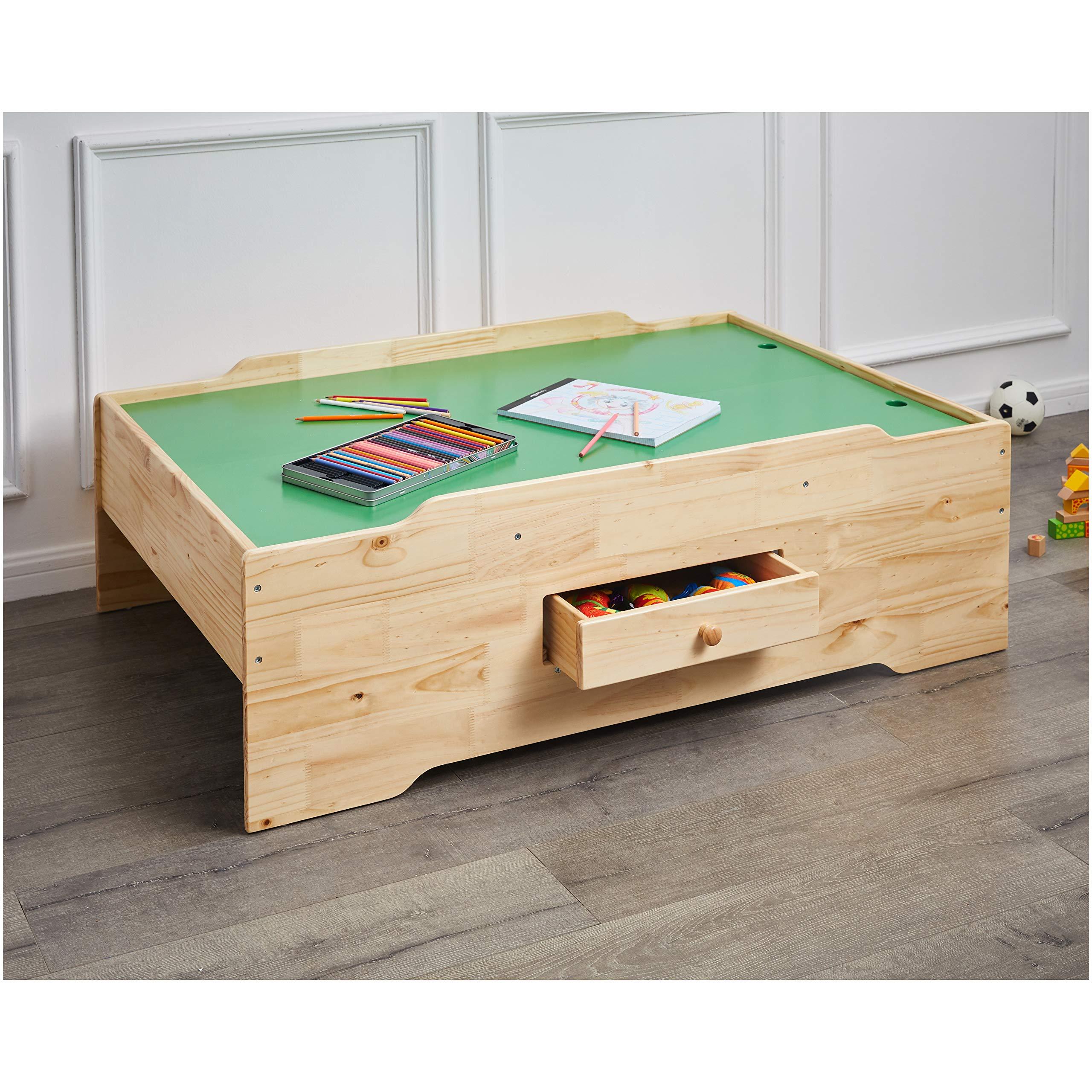 AmazonBasics Wooden Multi-Activity Play Table, Natural by AmazonBasics (Image #2)