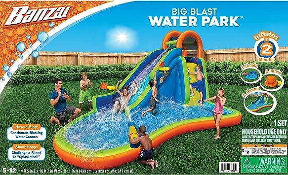 Amazon Com Banzai Big Blast Water Park Toys Games