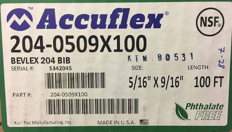 100ft Accuflex 204-0509X100 Bevlex PVC Tubing