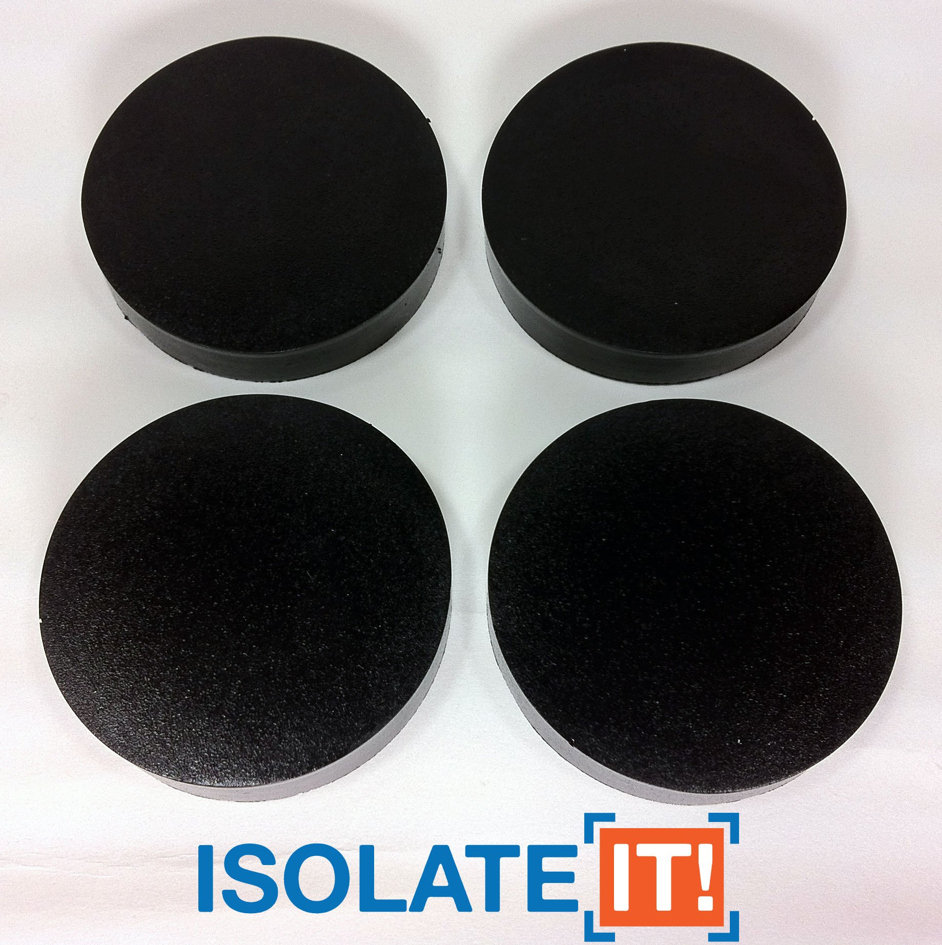 Isolate It: Sorbothane Vibration Isolation Circular Disc Pad .5'' (1.27cm) Thick x 2.5'' (6.35cm) Dia. 30 Duro - 4 Pack