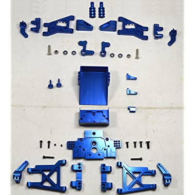 Dhawk Racing Aluminum Conversion Kit Blue For Team Associated RC10 World's Car: Toys & Games