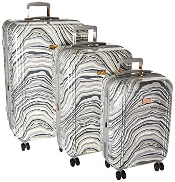 b70c58633 Vince Camuto Abbygaile 3 Piece Hardside Expandable Spinner Set, Grey Marble  Print