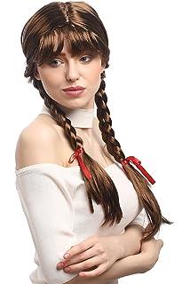 WIG ME UP ® - XR-008-P6 Peluca Mujeres Carnaval Cosplay Larga Trenzas