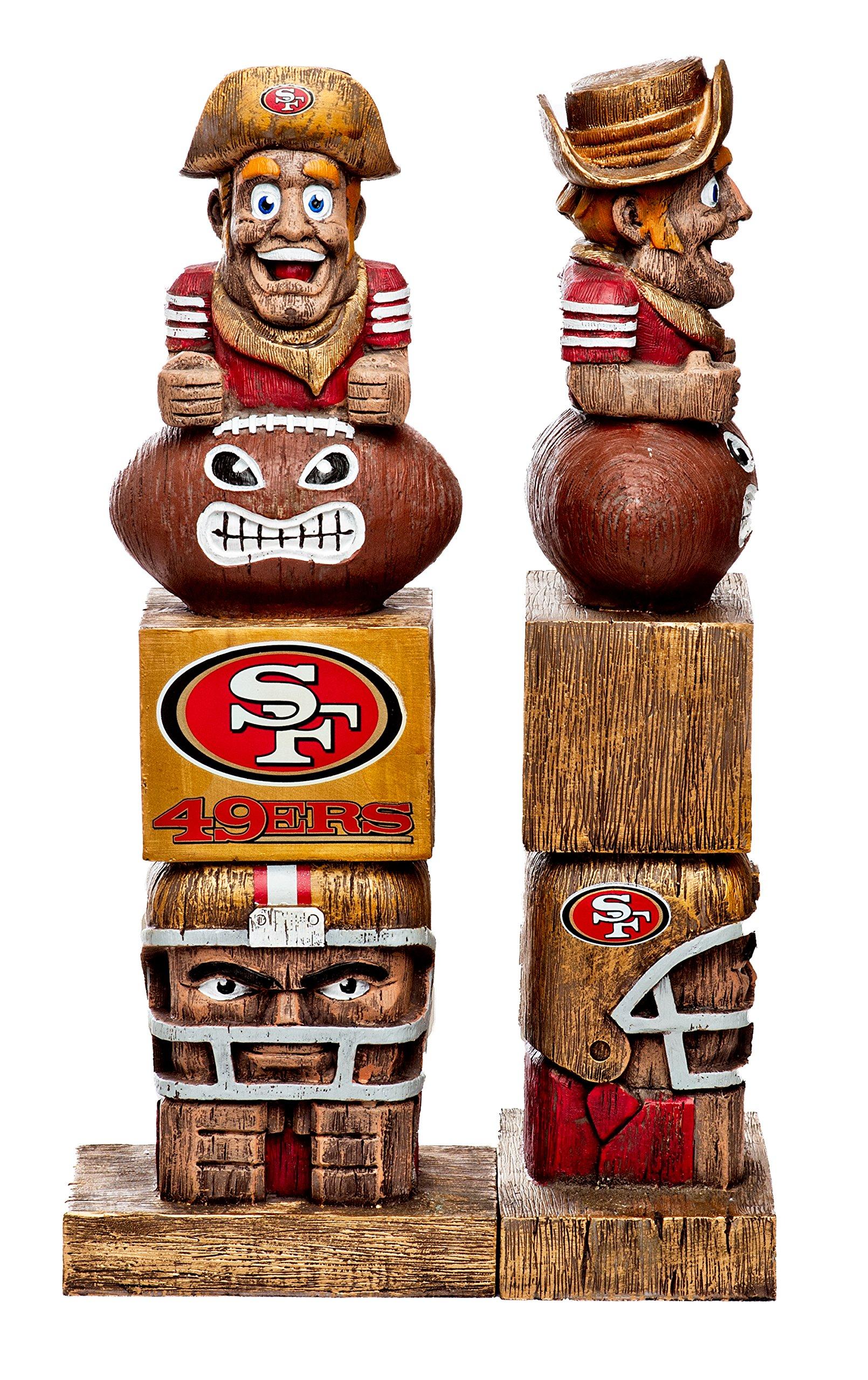 Evergreen Tiki Totem Statue NFL San Francisco 49ers Football Team