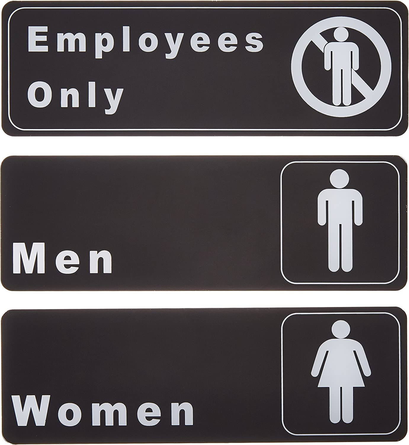 Restroom Toilet Black /& White Business Cafe Shop Sign Wall Plaque or Hanging