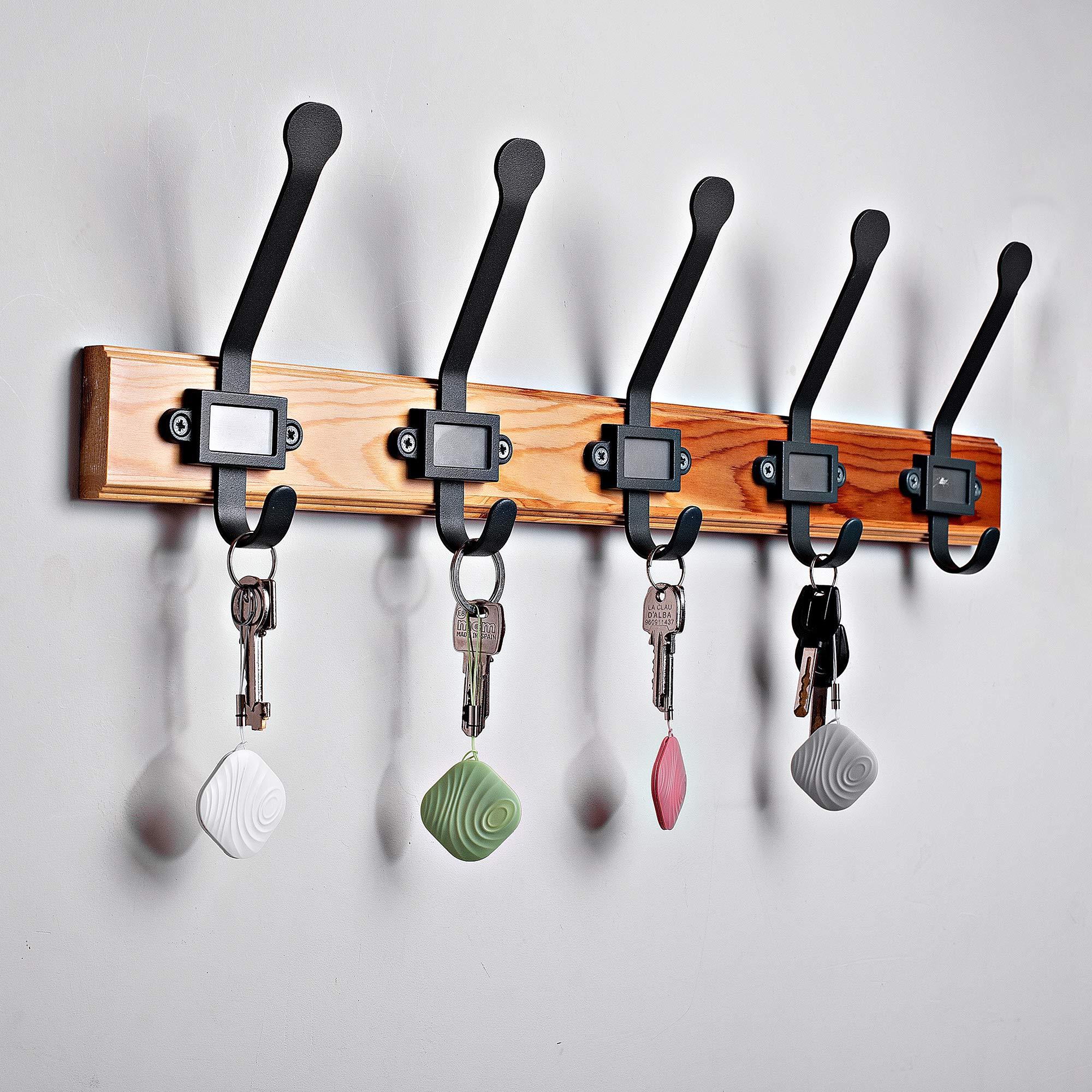 Nut3 Key Finder Locator (paquete de 4) - Rastreador inteligente de artículos y dispositivo buscador de Bluetooth para billetera, teléfono, mascotas, perros, gatos - Recordatorio de alarma bidireccional anti-pérdida - Batería reemplazable - Multicolor
