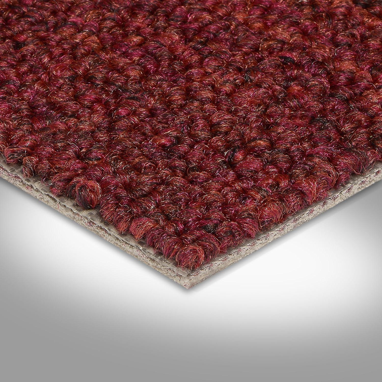 Meterware Gr/ö/ße: 5 x 4m 400 und 500 cm Breite rot Schlinge gemustert verschiedene Gr/ö/ßen Teppichboden Auslegware