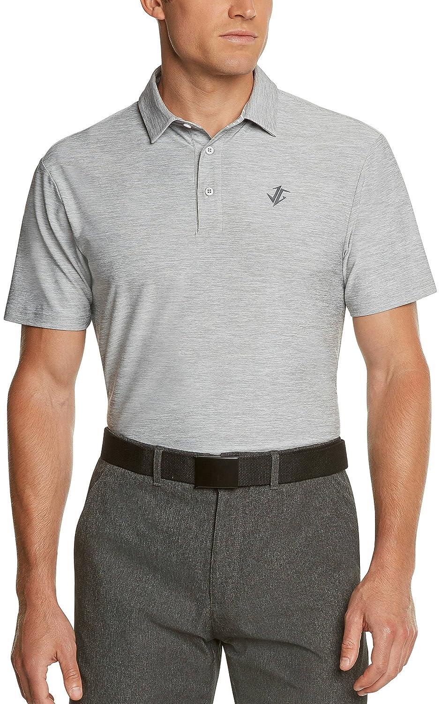 Jolt Gearメンズドライフィットゴルフポロシャツ、アスレチック半袖ポロゴルフシャツ(ランドリーバッグIncluded ) B079B7R8TL X-Large|グレー グレー X-Large