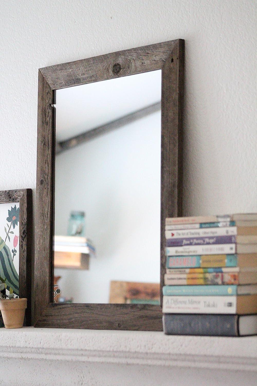 Vanity Mirrors For Bathroom Amazon.com: Rustic Wall Mirror - Wall Mirror - 20 X 24 Vanity Mirror - Bathroom  Mirror - Rustic Mirror - Reclaimed Wood Mirror - Bathroom Vanity: Handmade