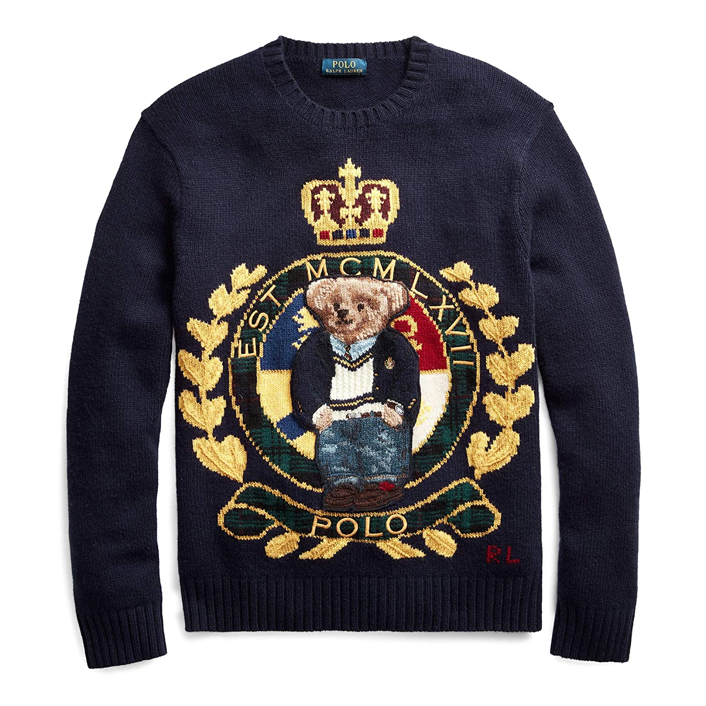 Ralph Lauren Polo Preppy Bear Wool Knit-M: Amazon.es: Ropa y ...