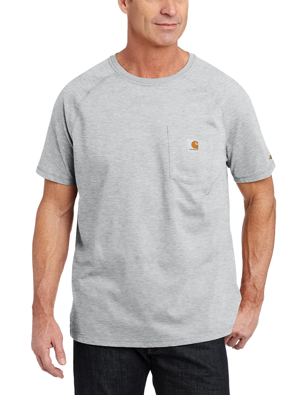 Carhartt メンズ ビッグ&トール フォースコットン 半袖Tシャツ リラックスフィット B00E1YQWKS 3L|ヘザーグレー ヘザーグレー 3L