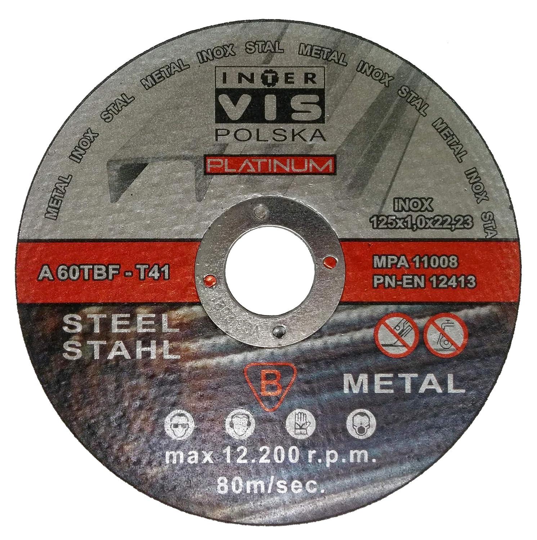 Lot de 25 disques /à tron/çonner pour acier 125 x 1 mm T41