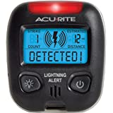 AcuRite 02020 Portable Lightning Detector Black, 2½L x 1W x 2¾H