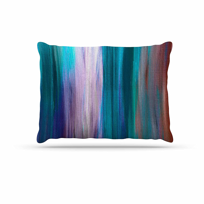 KESS InHouse EBI Emporium Irradiated Multi 3  Teal Lavender Dog Bed, 30  x 40