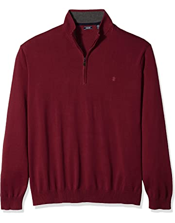 ff63d98b2 IZOD Men s Big and Tall Fine Gauge Solid 1 4 Zip Sweater