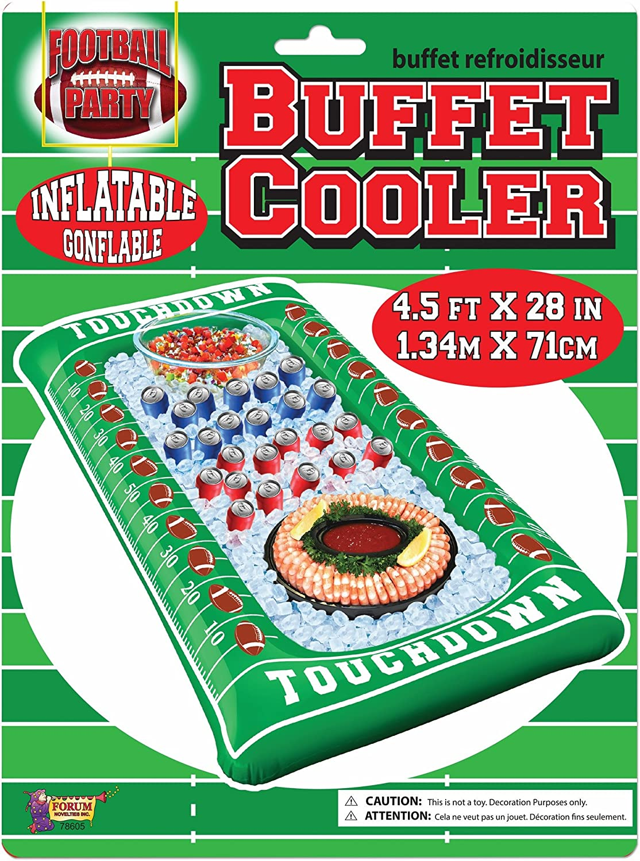 Forum Novelties Football Inflatable Buffet Cooler, Multi-Color
