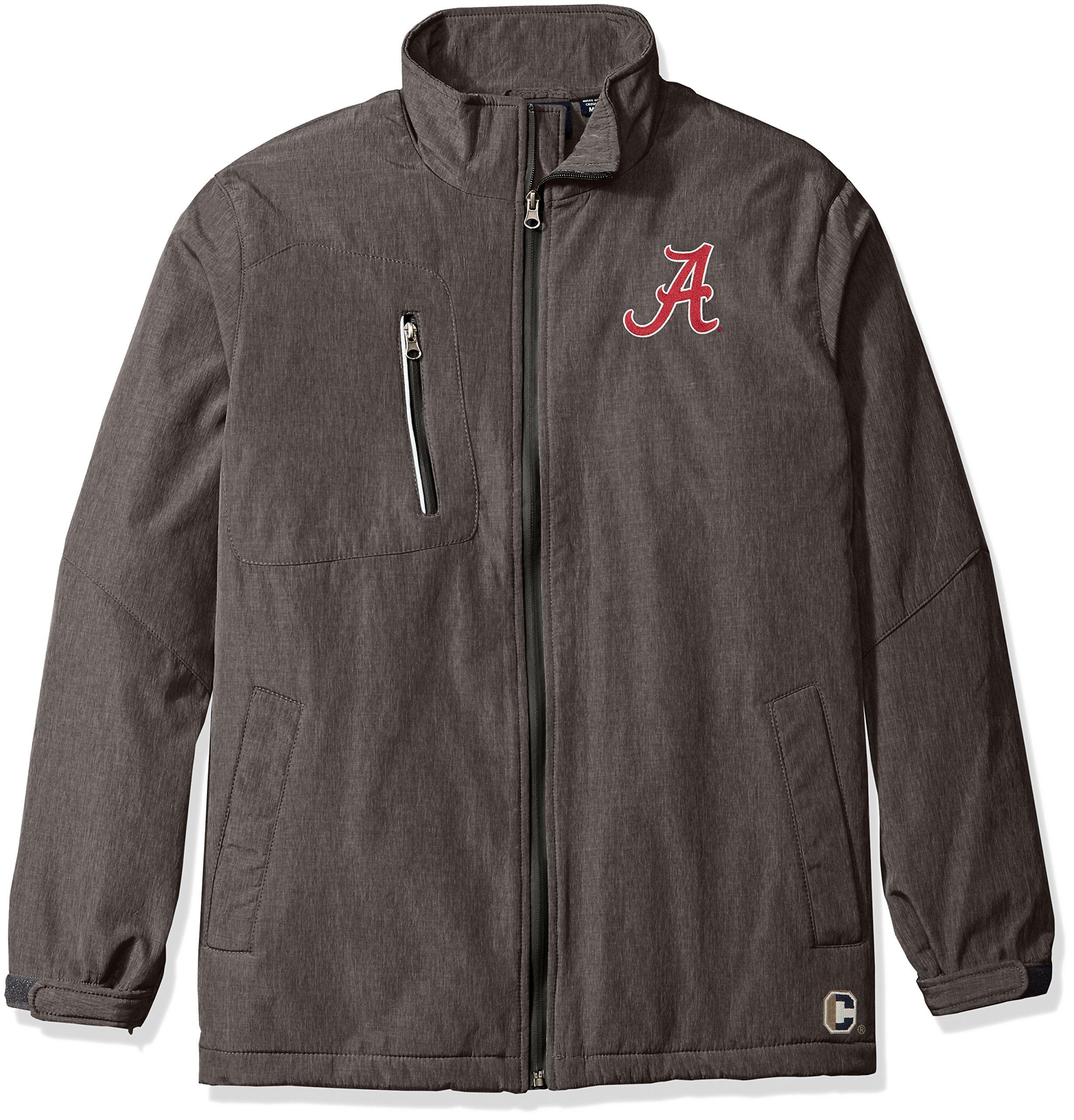 NCAA Alabama Crimson Tide Men's Bonded Stand Up Collar Stadium Jacket, Large, Dark Gray