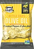 Good Health Kettle Style Olive Oil Potato Chips, Cracked Pepper & Sea Salt, 5-Ounce Bags (Pack of 12)