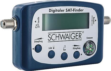 SCHWAIGER -5170- SAT-Finder digital/Satellitenerkennung/Satelliten-Finder mit integriertem Kompass und Tonausgabe/Ausrichtung