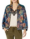 Johnny Was Women's Silk Printed and Reversible Bomber