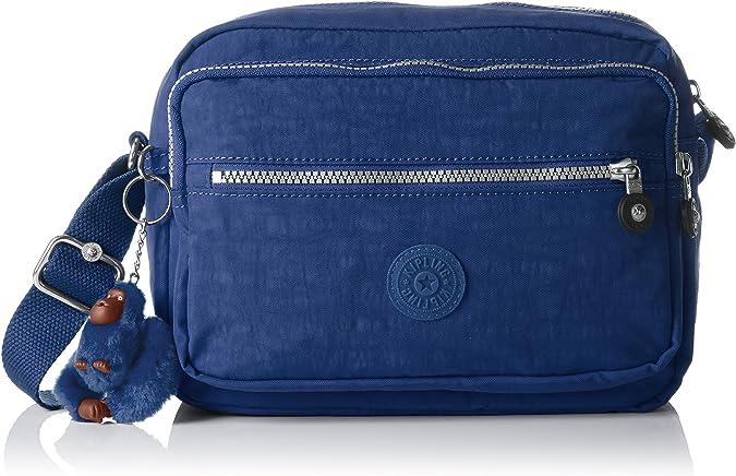 Kipling Deena, Sacs bandoulière Femme, Bleu (Jazzy Blue