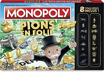 MONOPOLY Pions en Folie - 100 pions en or a gagner!: Amazon.es: Juguetes y juegos