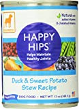 Dogswell Happy Hips for Dogs, Duck & Sweet Potato Stew Recipe, 13-Ounce Cans (Pack of 12)
