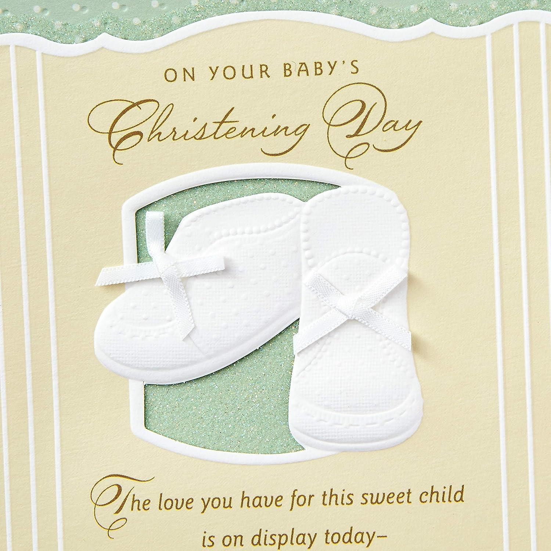 Amazon.com: Tarjeta de bautizo de día (en el día de bautizo ...