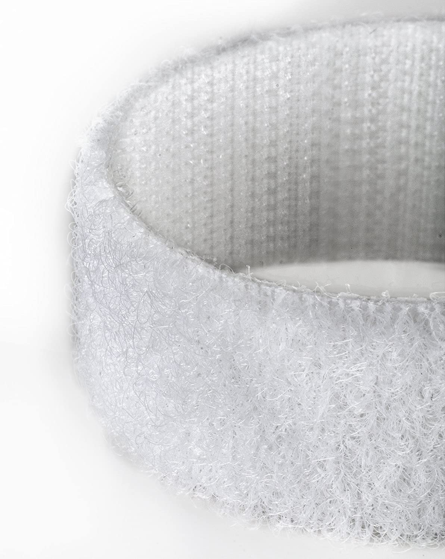 2 cm di larghezza. White nastro bianco marca Velcro/® 5 m Nastro auto-adesivo con retro aderente