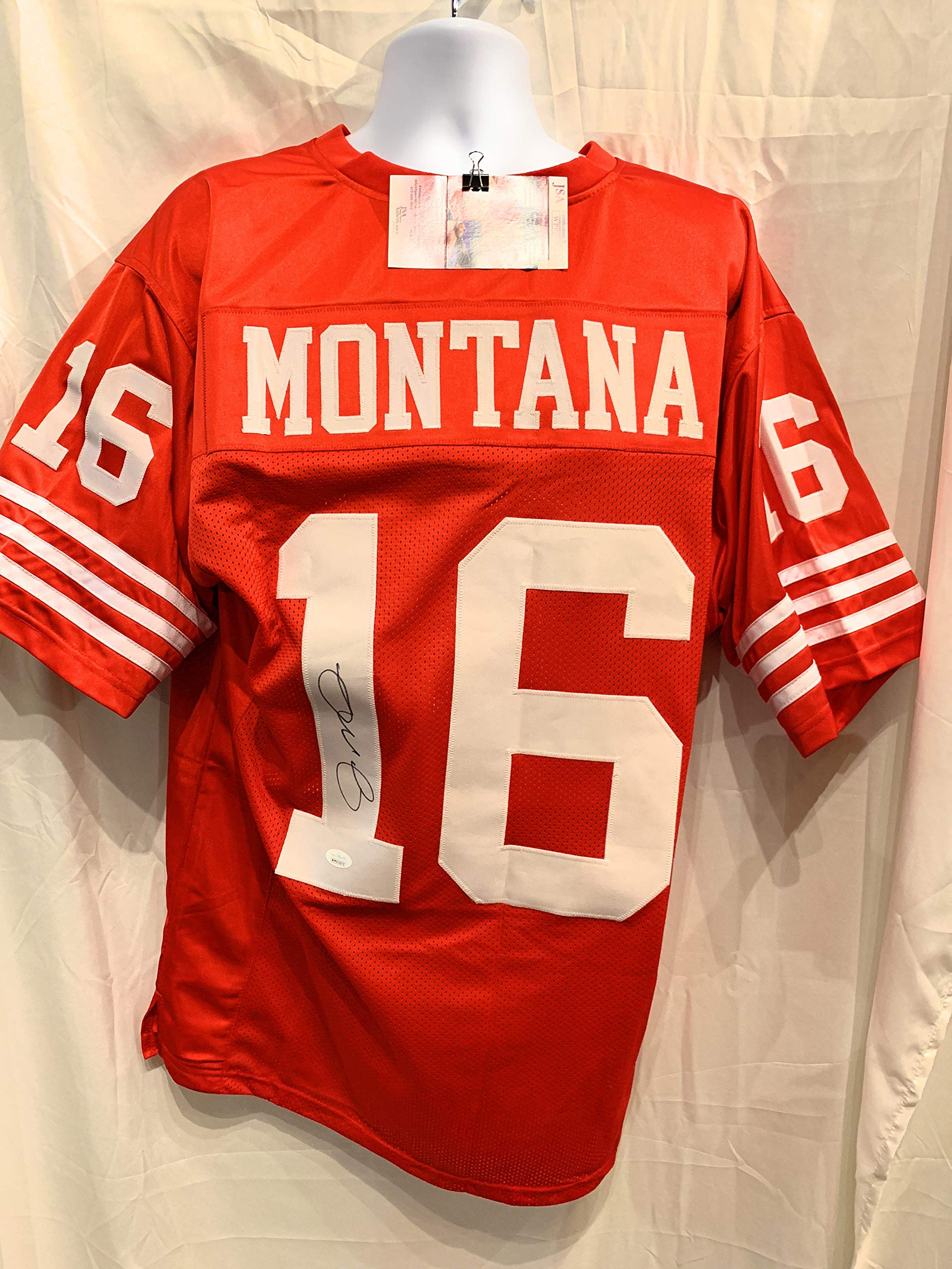 Joe Montana San Fransico 49ers Signed Autograph Custom Jersey JSA Witnessed Certified
